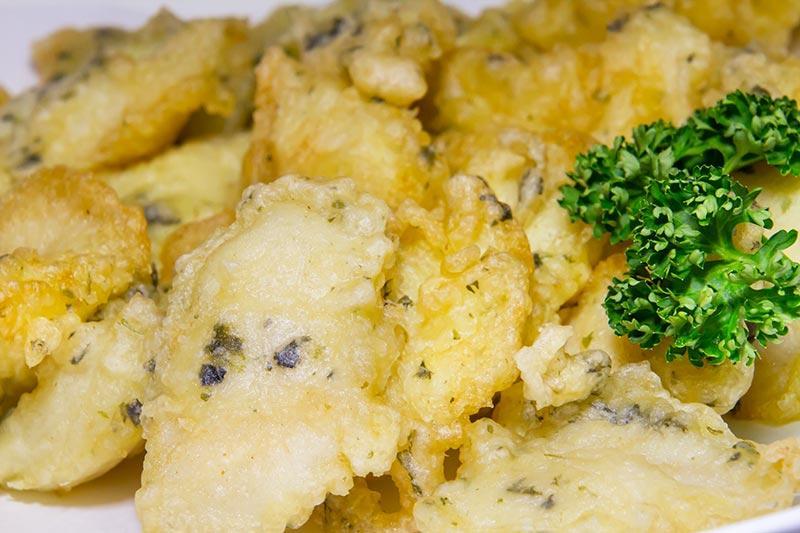 白身魚のフリット 磯風味